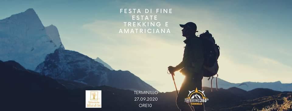 Trekking e Amatriciana – Festa di fine Estate - eventi in sabina