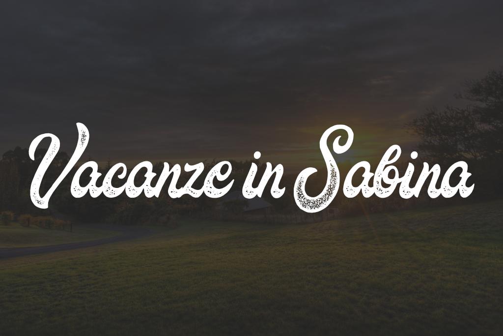 vacanze in sabina