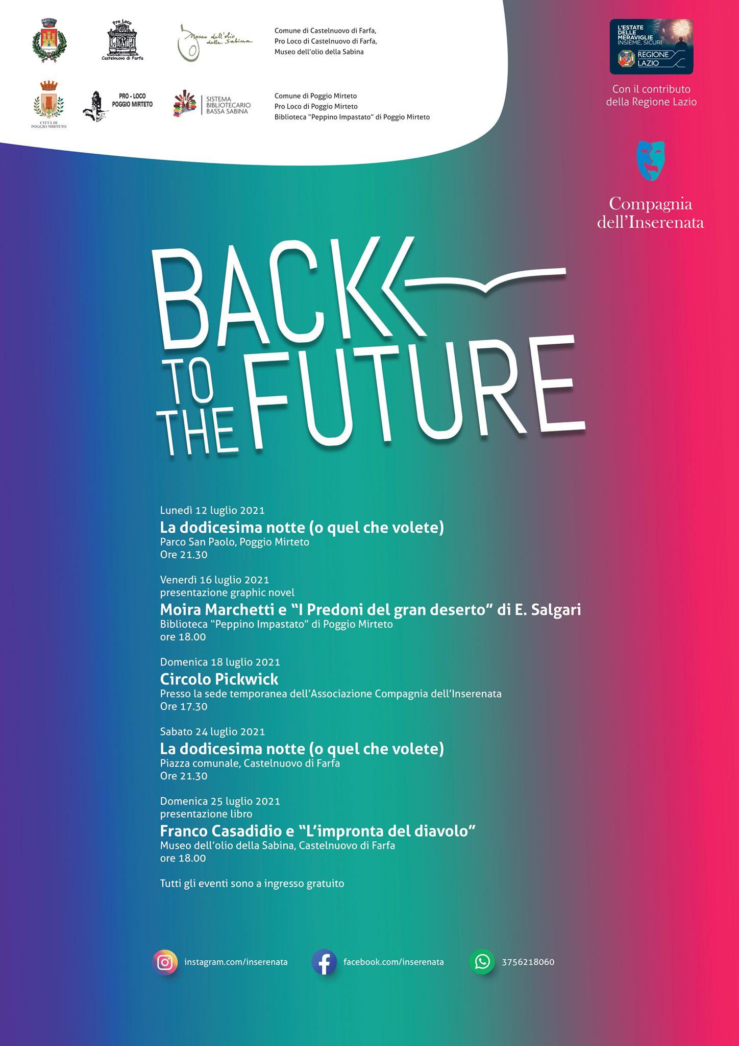 Back to the future – eventi dal vivo e spettacoli teatrali in Sabina - eventi in sabina