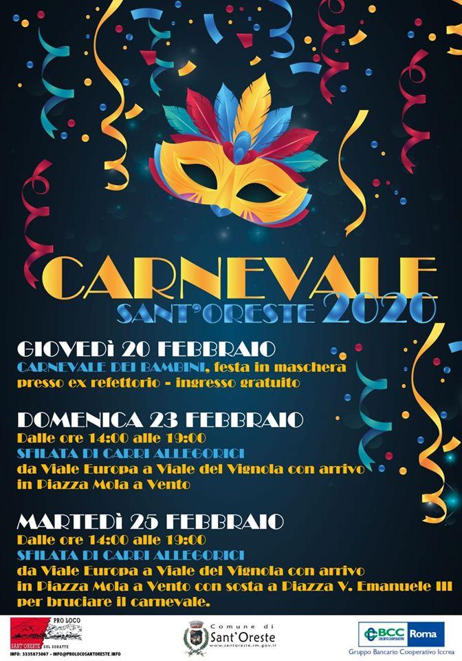 Carnevale Sant'Oreste 2020 - eventi in sabina