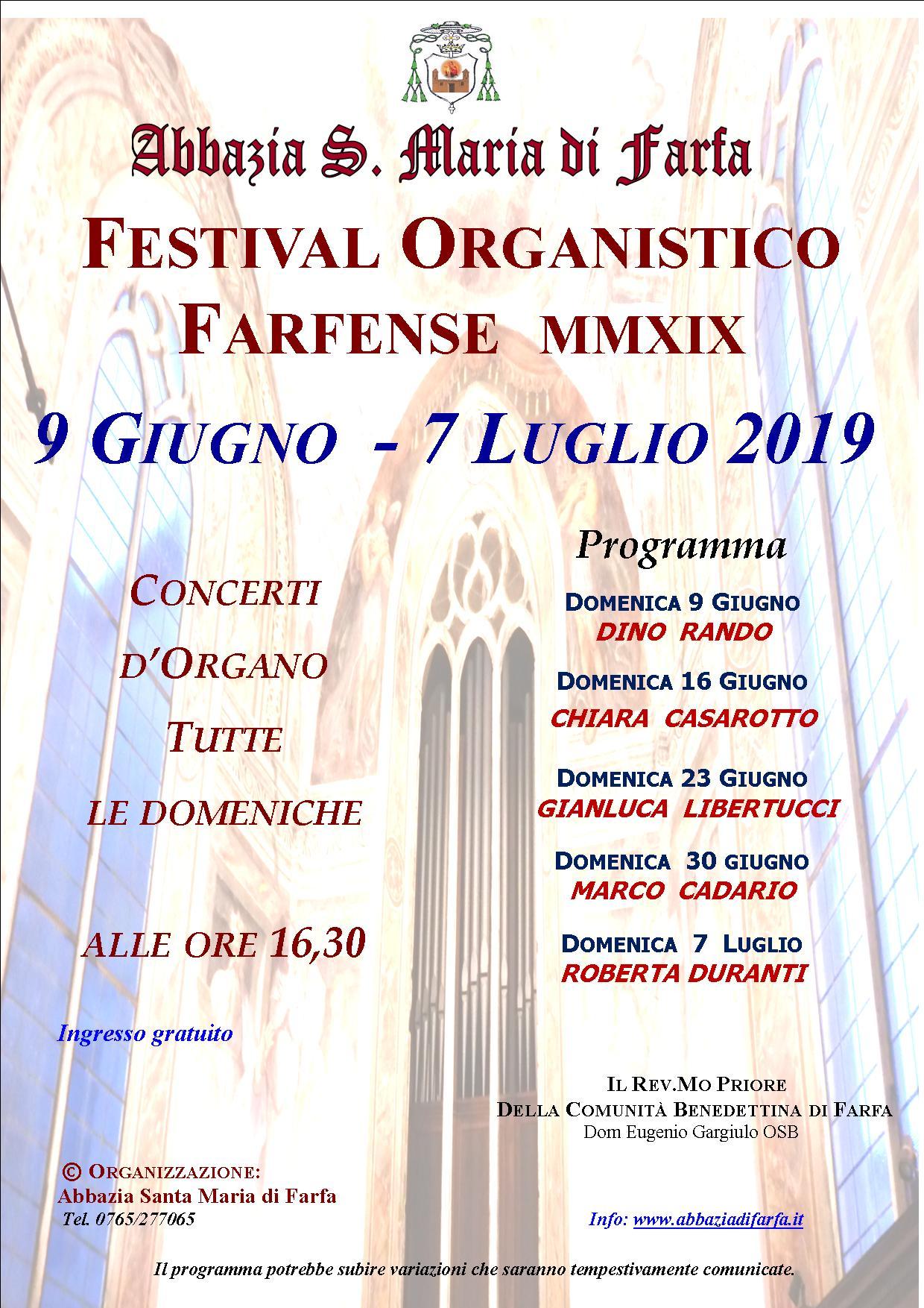 Festival Organistico Farfense - eventi in sabina