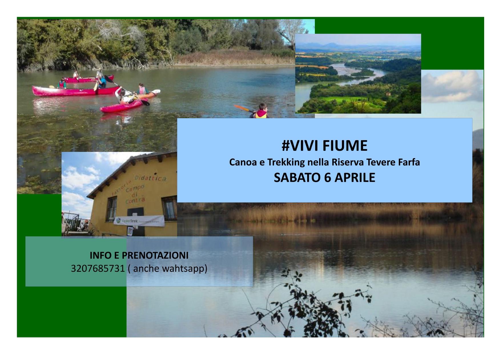 Vivi Fiume: canoa e trekking nella Riserva Nazzano Tevere Farfa - eventi in sabina