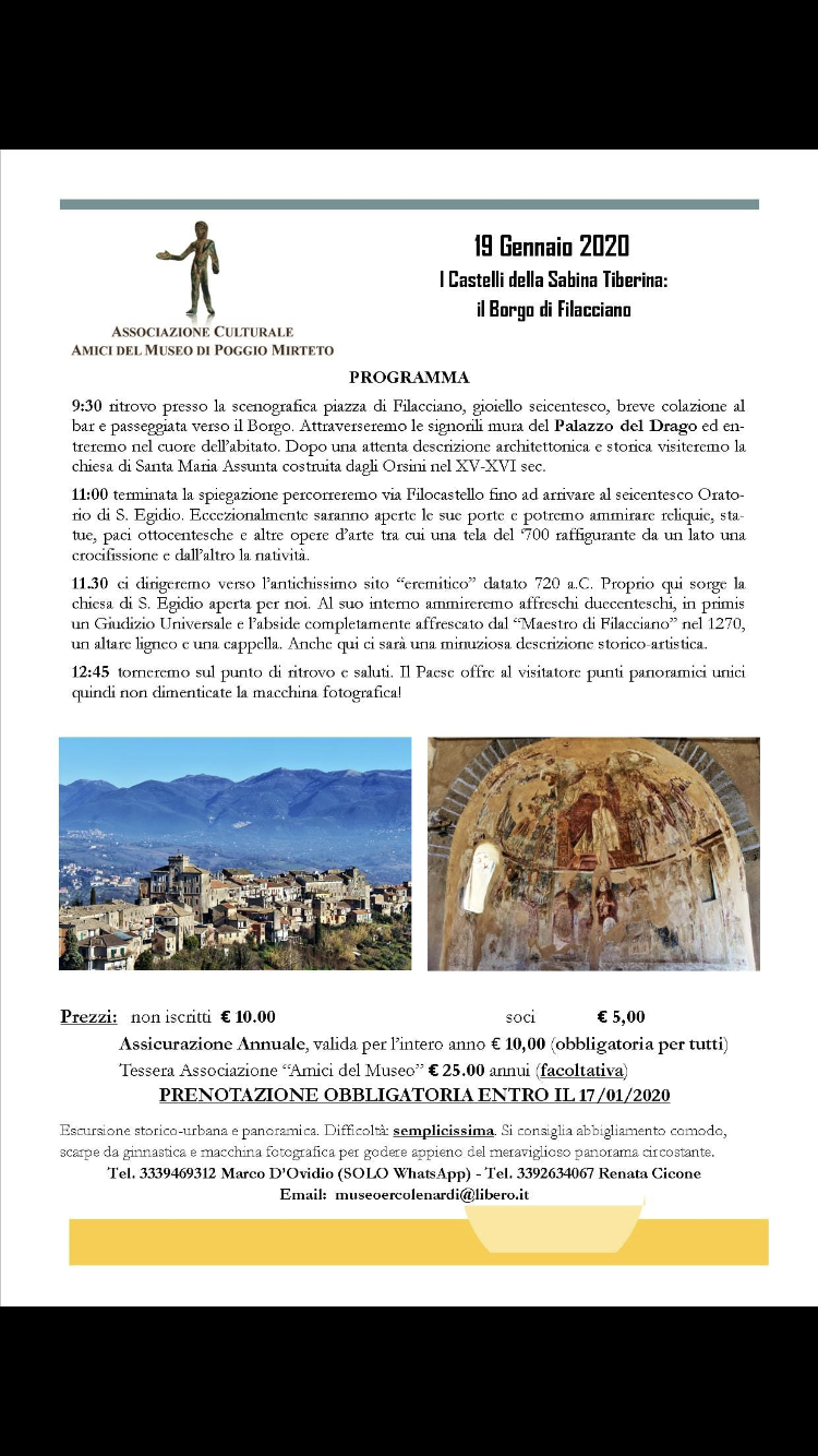 I castelli della Sabina Tiberina: il borgo di Filacciano - eventi in sabina