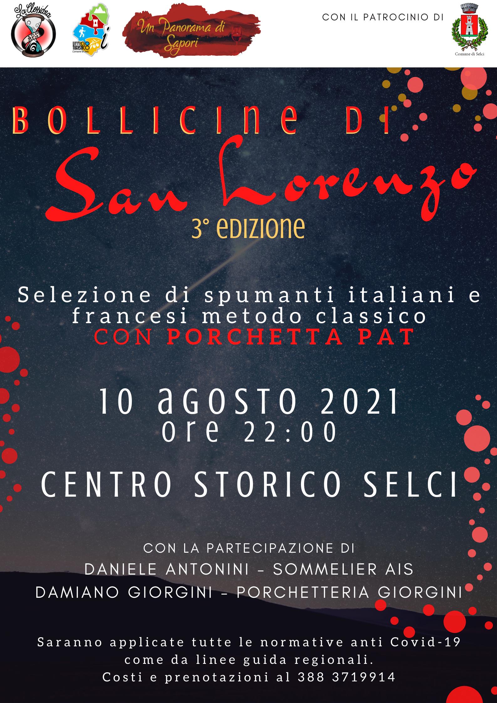 Bollicine di San Lorenzo – 3^ edizione - eventi in sabina