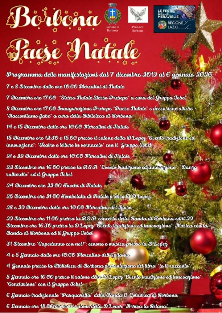 Borbona Paese Natale - eventi in sabina