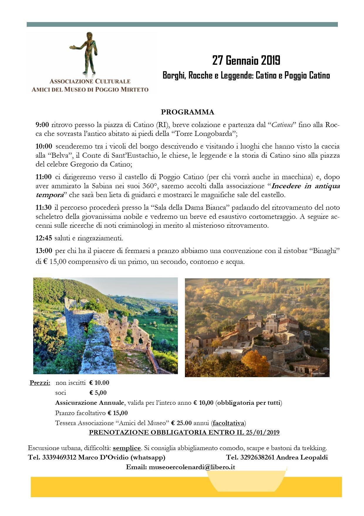 Borghi, Rocche e Leggende: Catino e Poggio Catino - eventi in sabina
