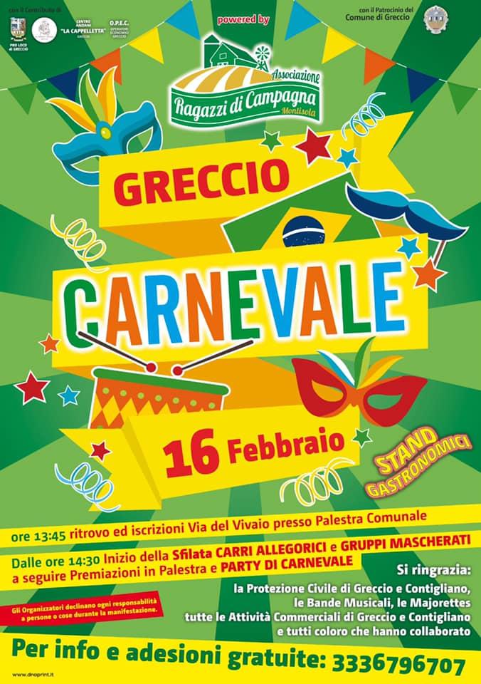 Carnevale di Greccio 2020 - eventi in sabina