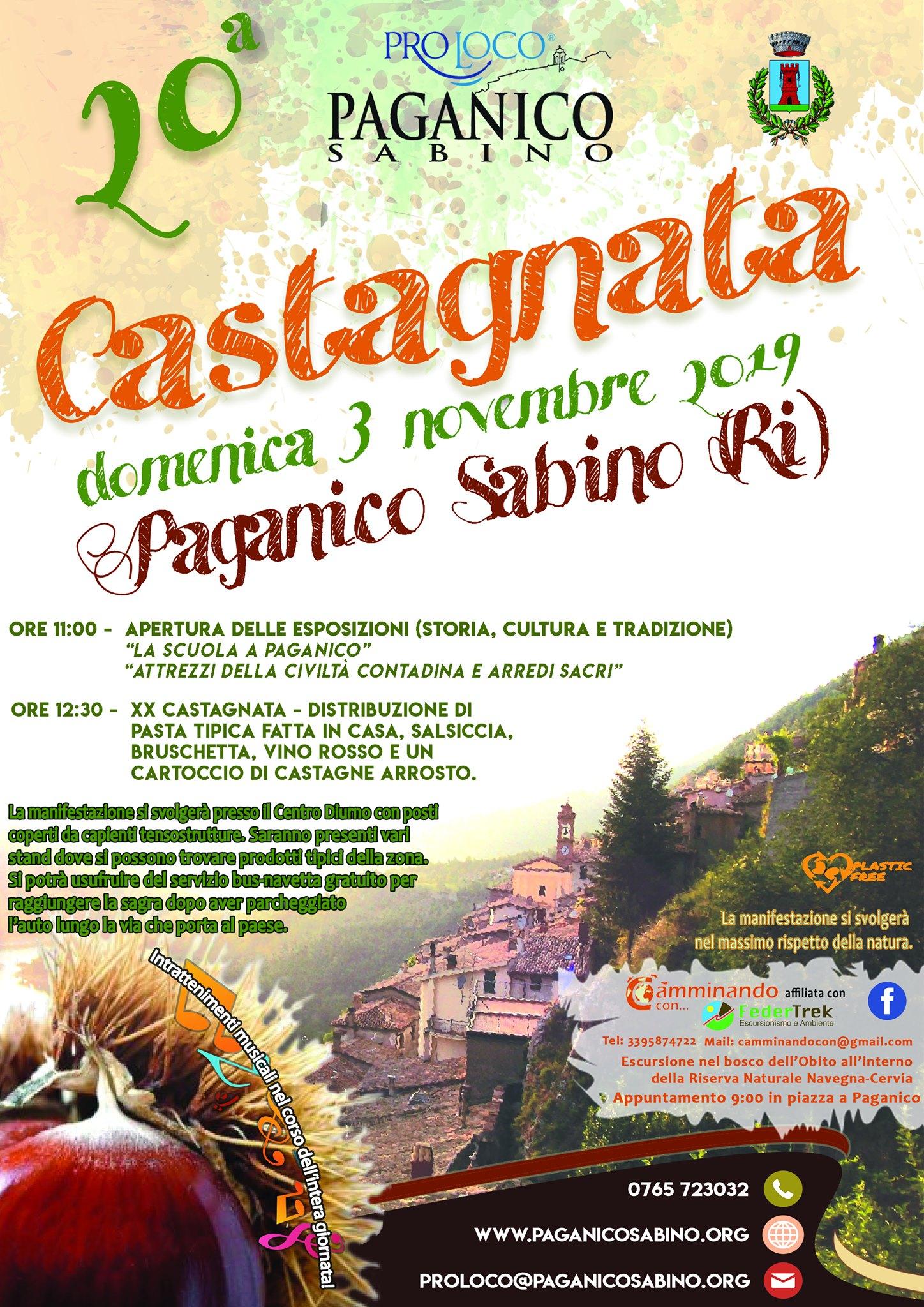 Castagnata Paganichese – 20^ edizione - eventi in sabina