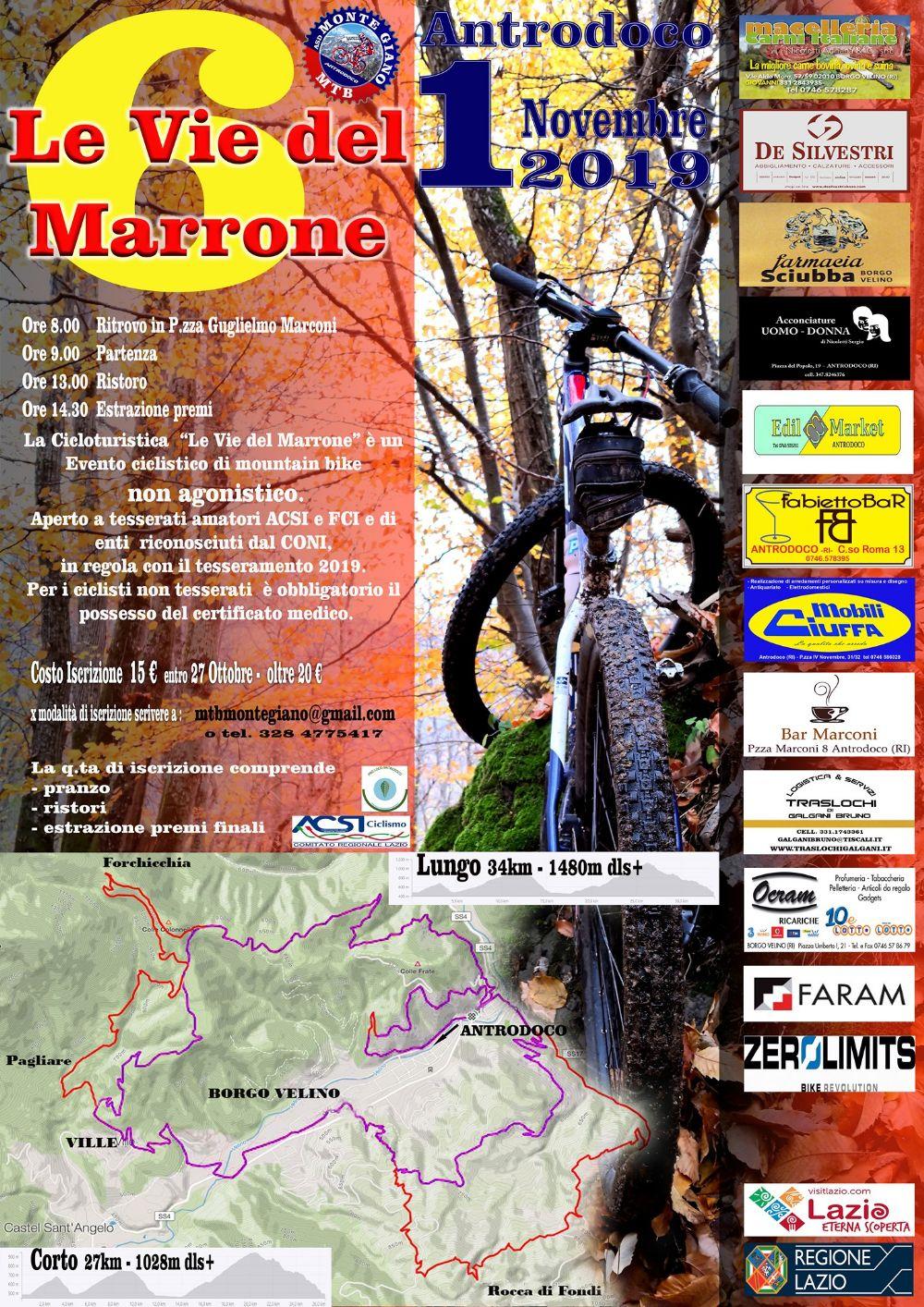 """Cicloturistica """"Le Vie del Marrone"""" – 6^ edizione - eventi in sabina"""