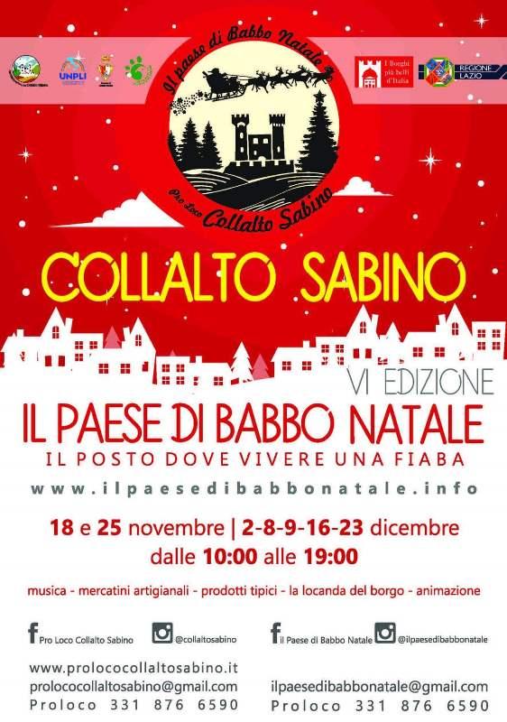 Il paese di Babbo Natale a Collalto Sabino – 6^ edizione - eventi in sabina