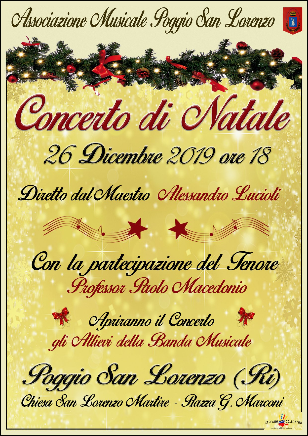 Concerto di Natale a Poggio San Lorenzo - eventi in sabina