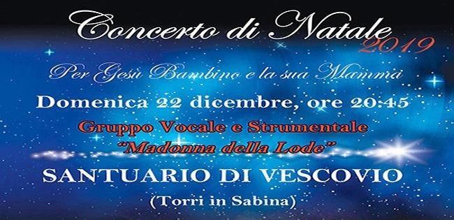 Concerto di Natale 2019 per Gesù Bambino e la sua Mamma - eventi in sabina