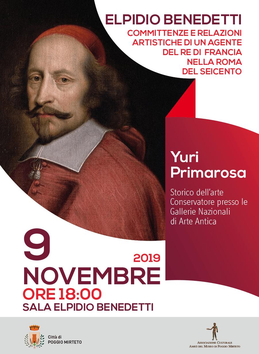 Conferenza: Elpidio Benedetti - eventi in sabina