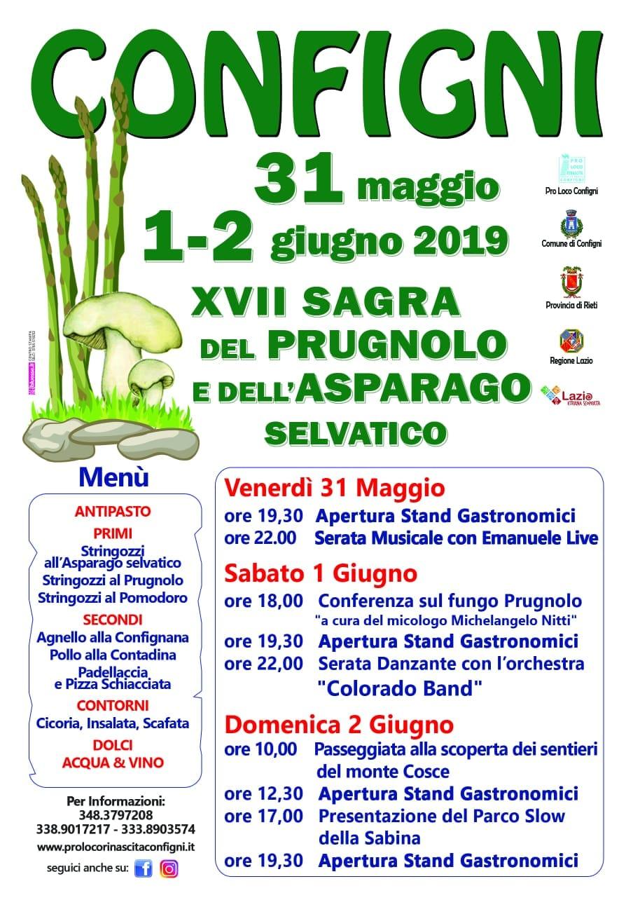 Sagra del Prugnolo e dell'Asparago Selvatico – XVII edizione - eventi in sabina