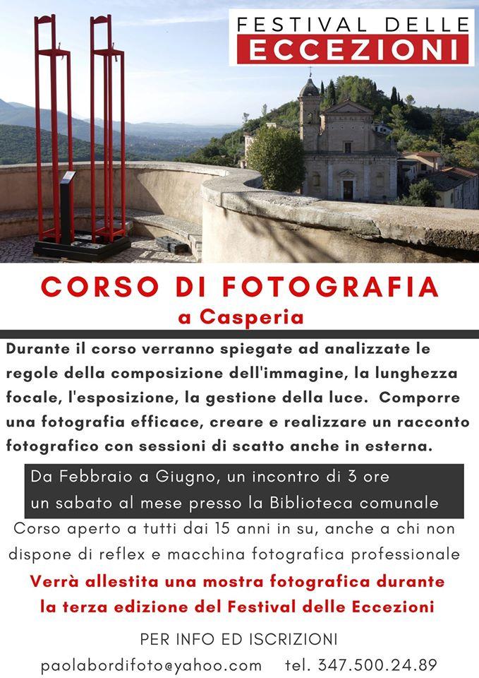 Corso di fotografia a Casperia - eventi in sabina