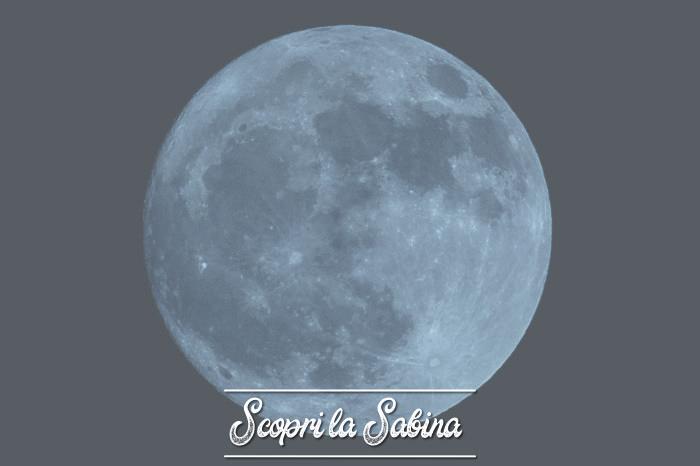 L'eclissi totale di Luna in Sabina