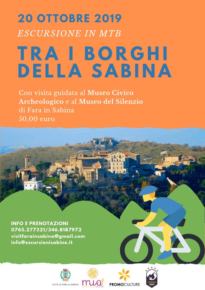 Escursione in mountain bike tra i borghi della Sabina - eventi in sabina