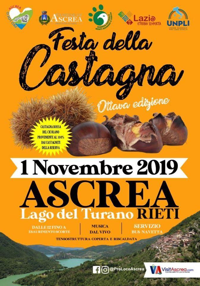 Festa della Castagna ad Ascrea - eventi in sabina