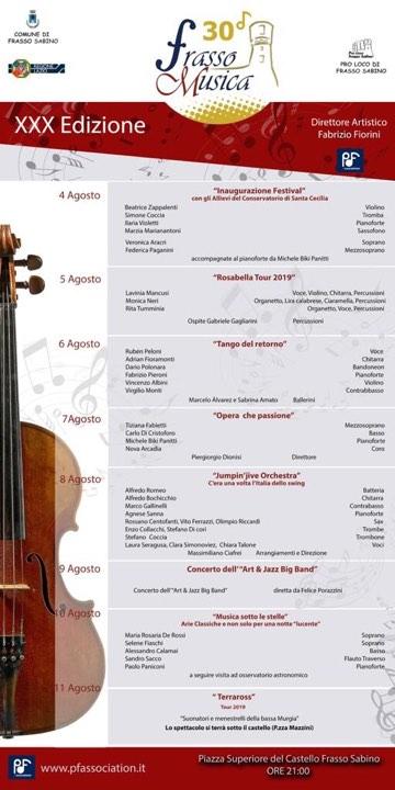 Frasso Musica – 30^ edizione - eventi in sabina