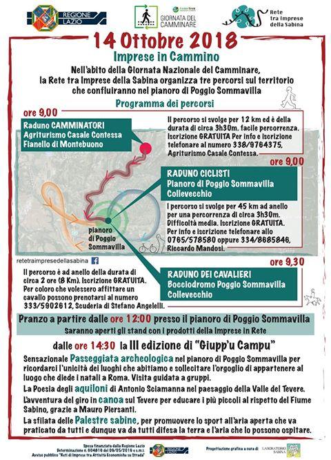 Imprese in Cammino 2018 - eventi in sabina