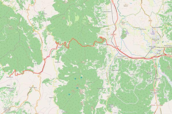 mappa della sabina cammino dei bianchi rieti montebuono
