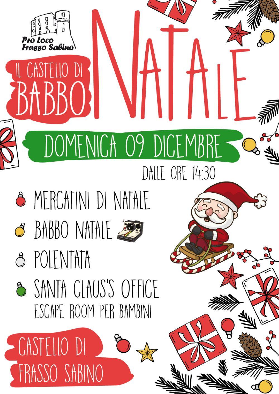 Mercatini e Castello di Babbo Natale a Frasso Sabino - eventi in sabina