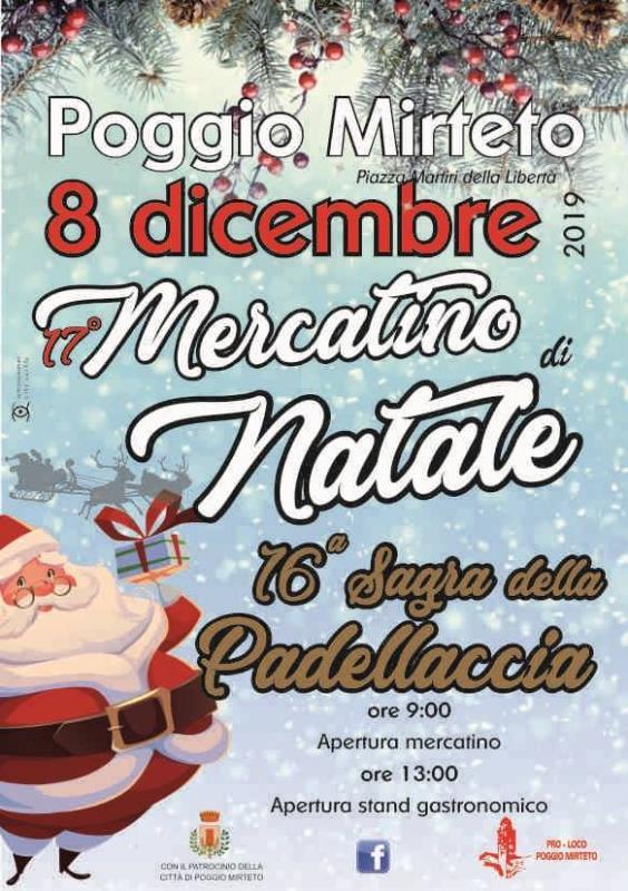 Mercatini di Natale a Poggio Mirteto e Sagra della Padellaccia - eventi in sabina