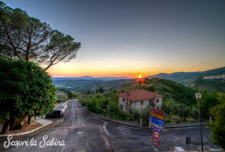 Il Monte Soratte visto da Mompeo