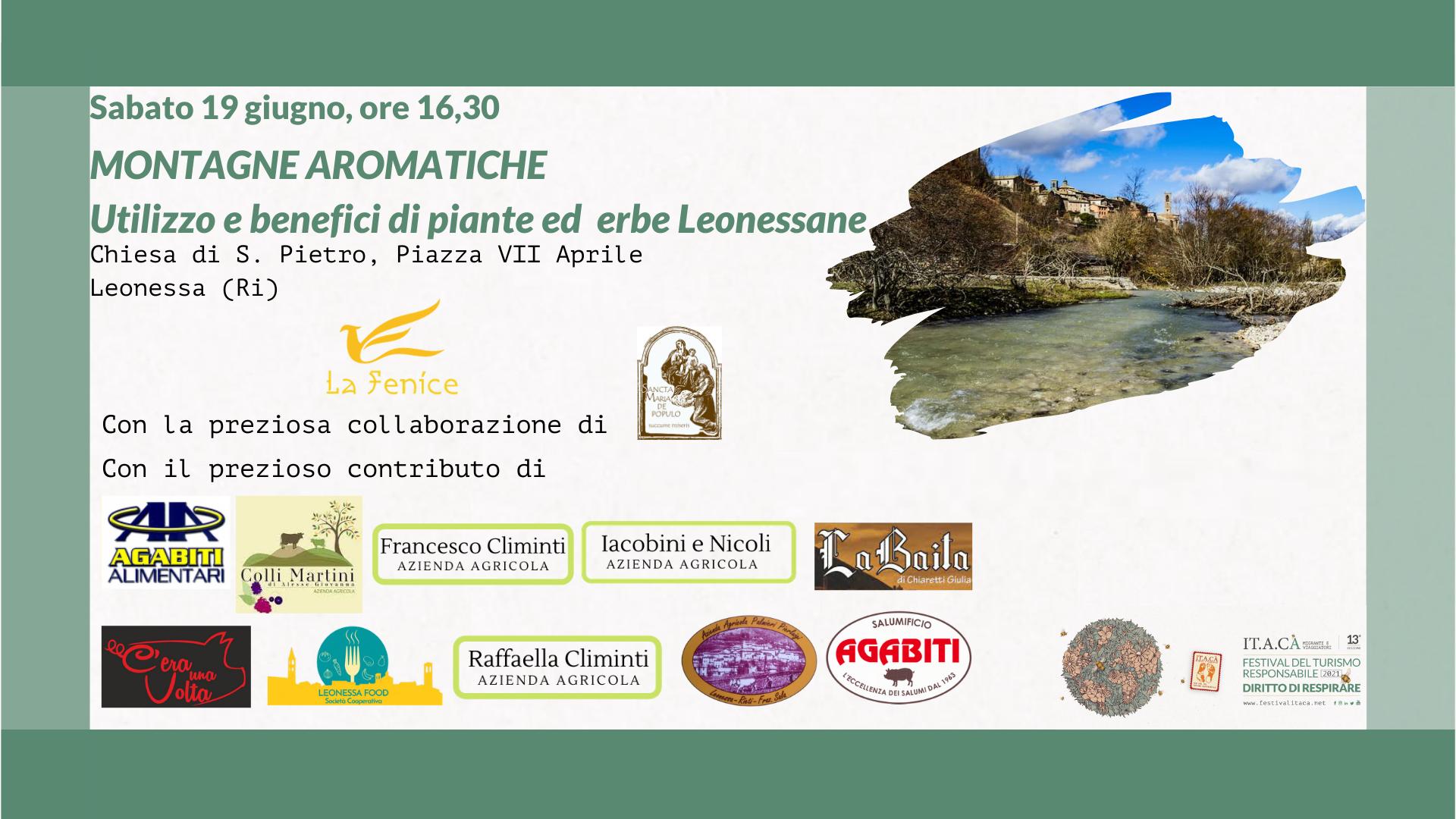 Montagne aromatiche: utilizzo e benefici di piante ed erbe Leonessane - eventi in sabina