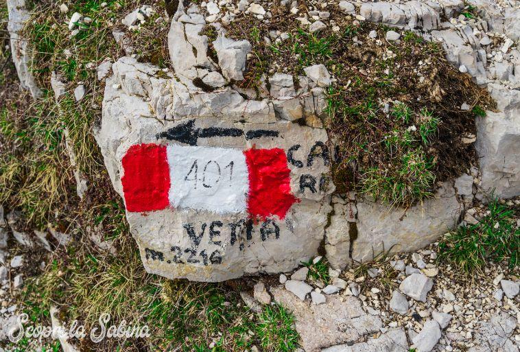 sentiero CAI sul Monte Terminillo