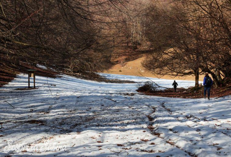 monti sabini neve monte pizzuto trekking escursioni