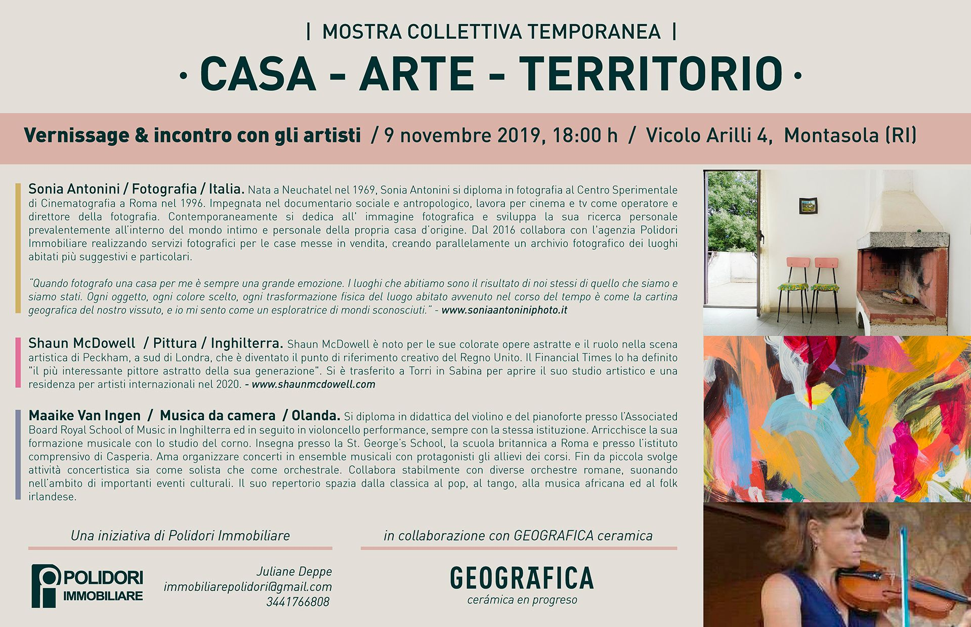 Mostra culturale Casa - Arte - Territorio