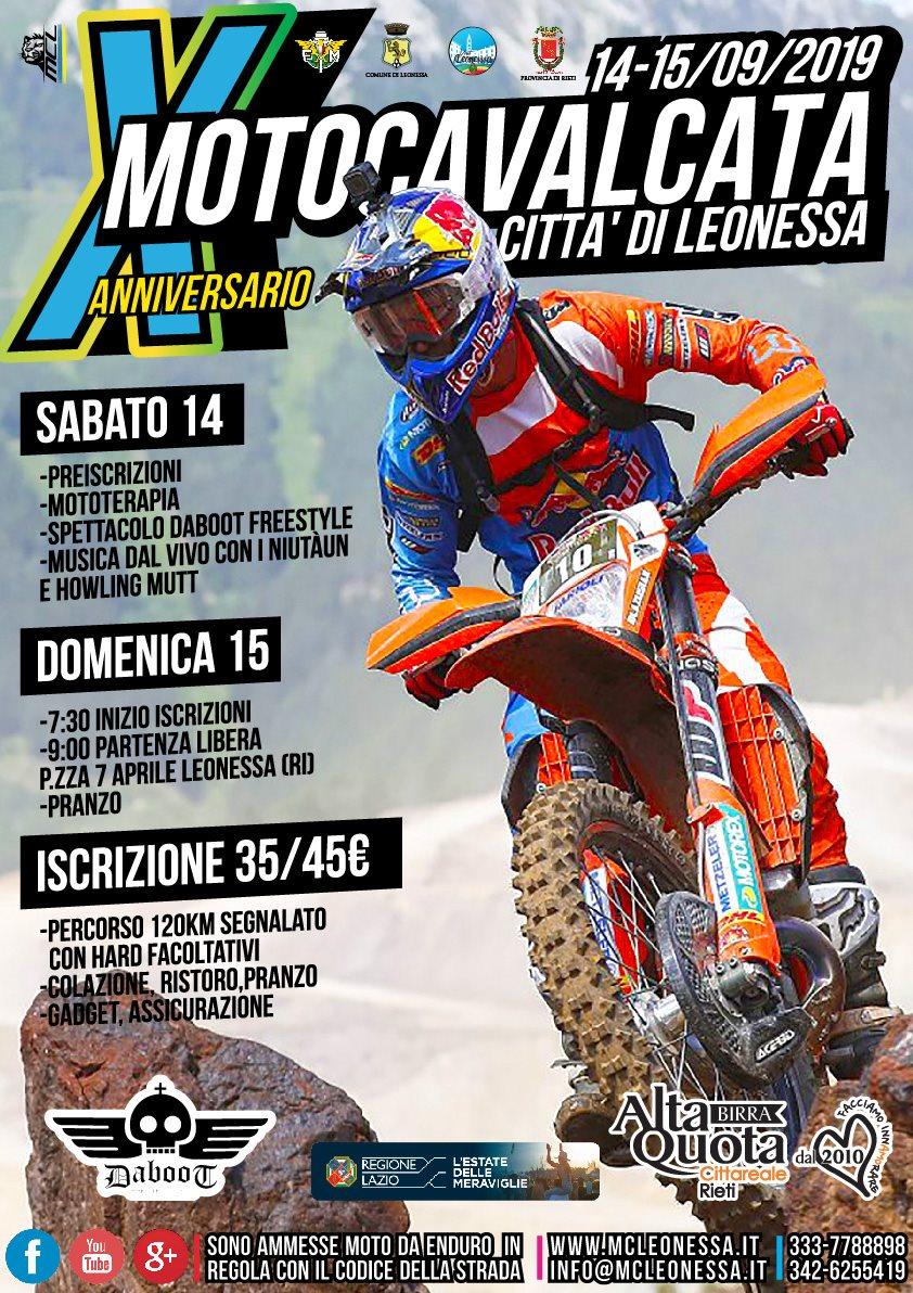 Motocavalcata città di Leonessa – 10^ edizione - eventi in sabina