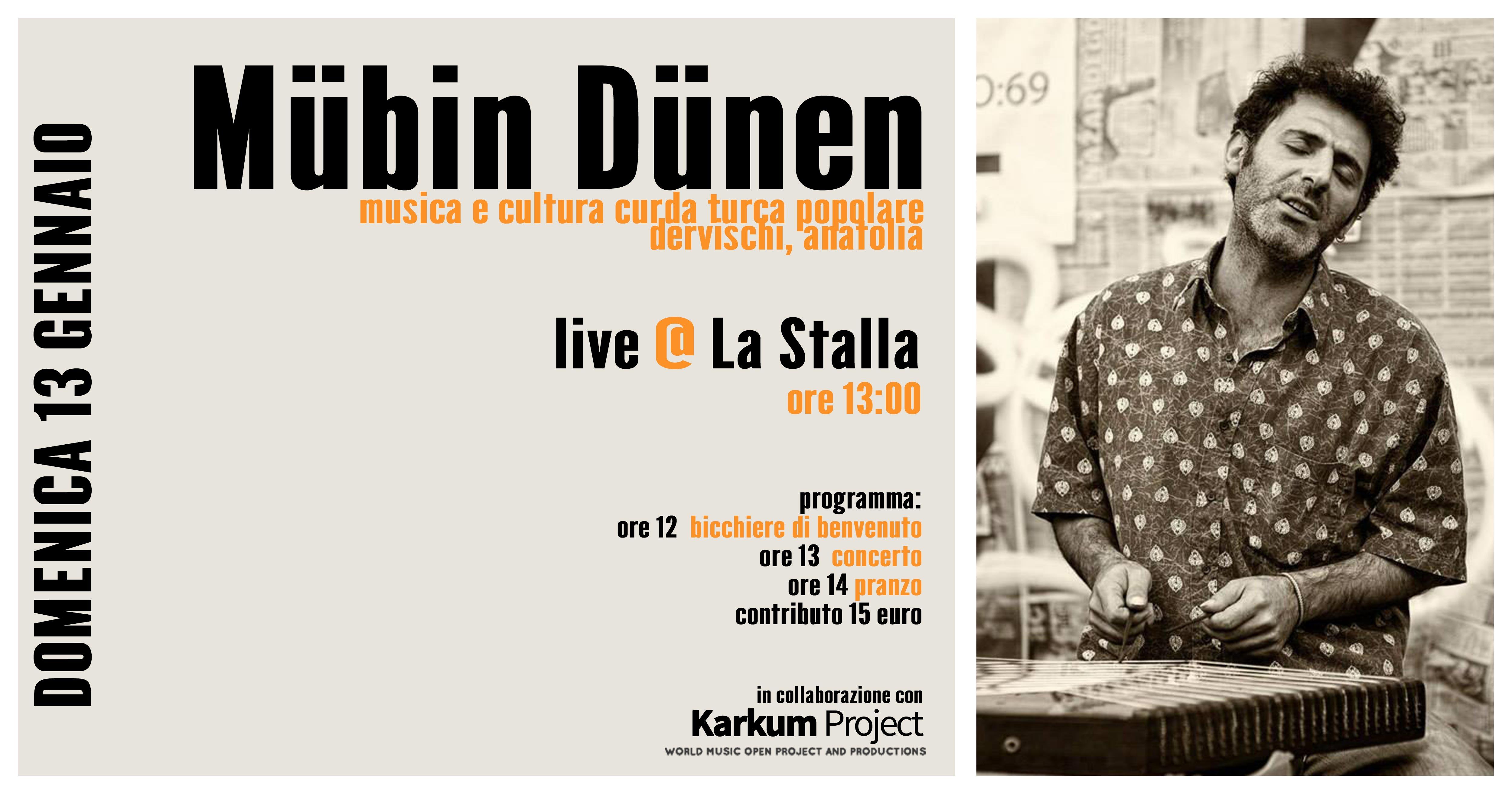 Pranzo spettacolo curdo con il polistrumentista Mubin Dunen - eventi in sabina