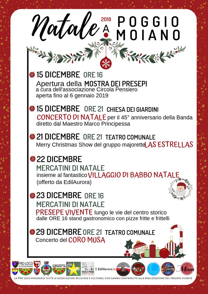 Natale 2018 a Poggio Moiano - eventi in sabina