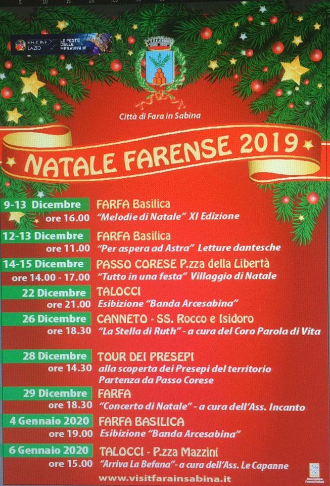 Natale Farense 2019 - eventi in sabina