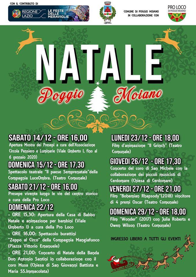 Natale a Poggio Moiano - eventi in sabina