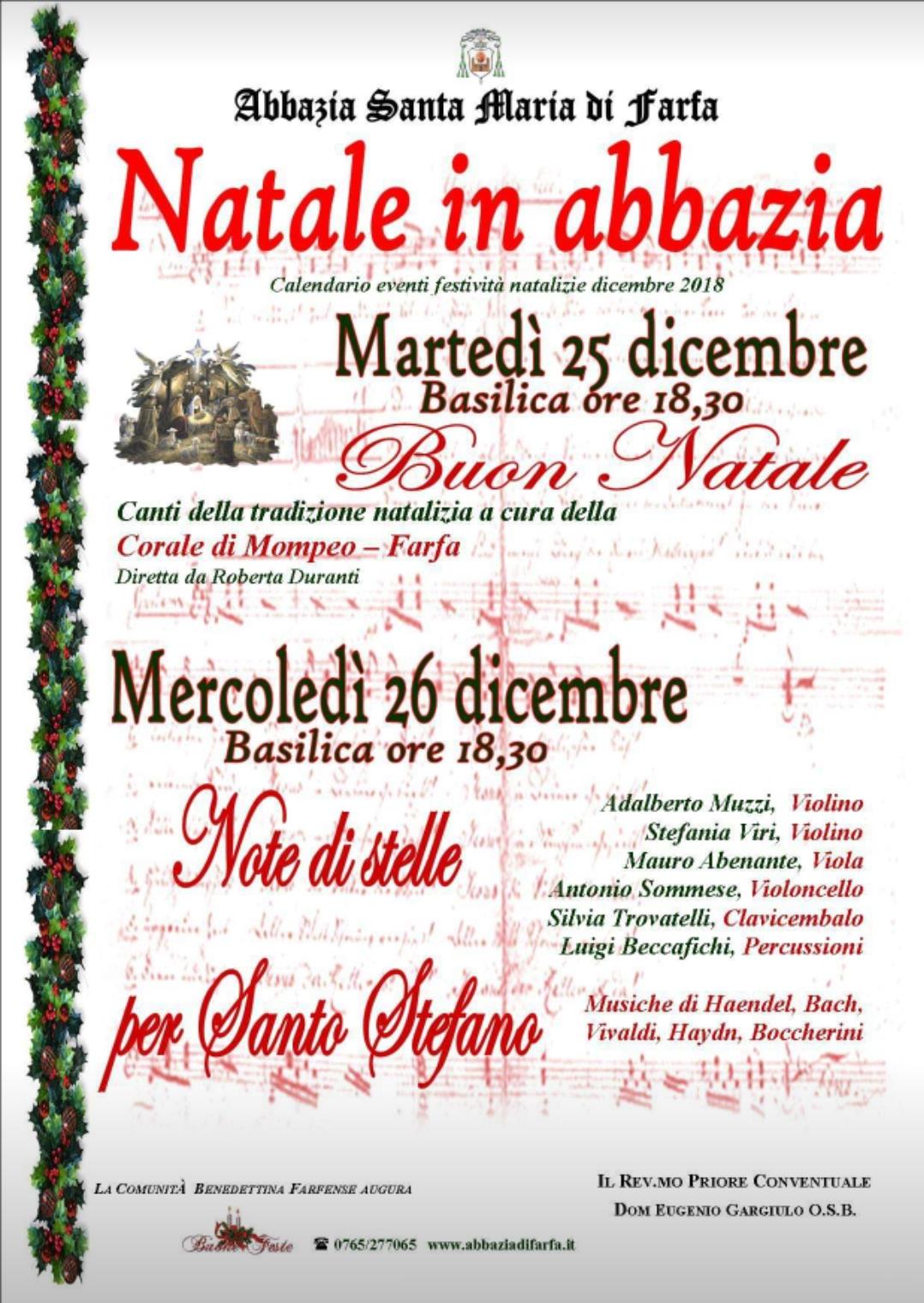 Note di stelle per Santo Stefano - eventi in sabina