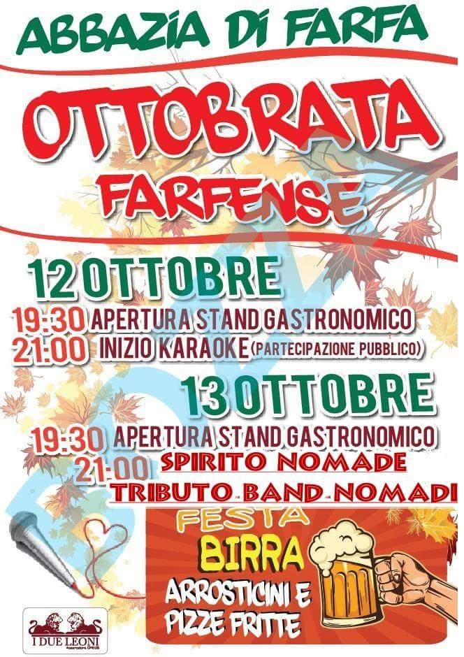 Ottobrata Farfense 2018 - eventi in sabina