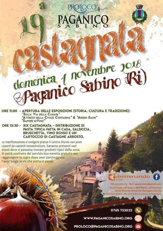 Castagnata Paganichese – 19^ edizione - eventi in sabina