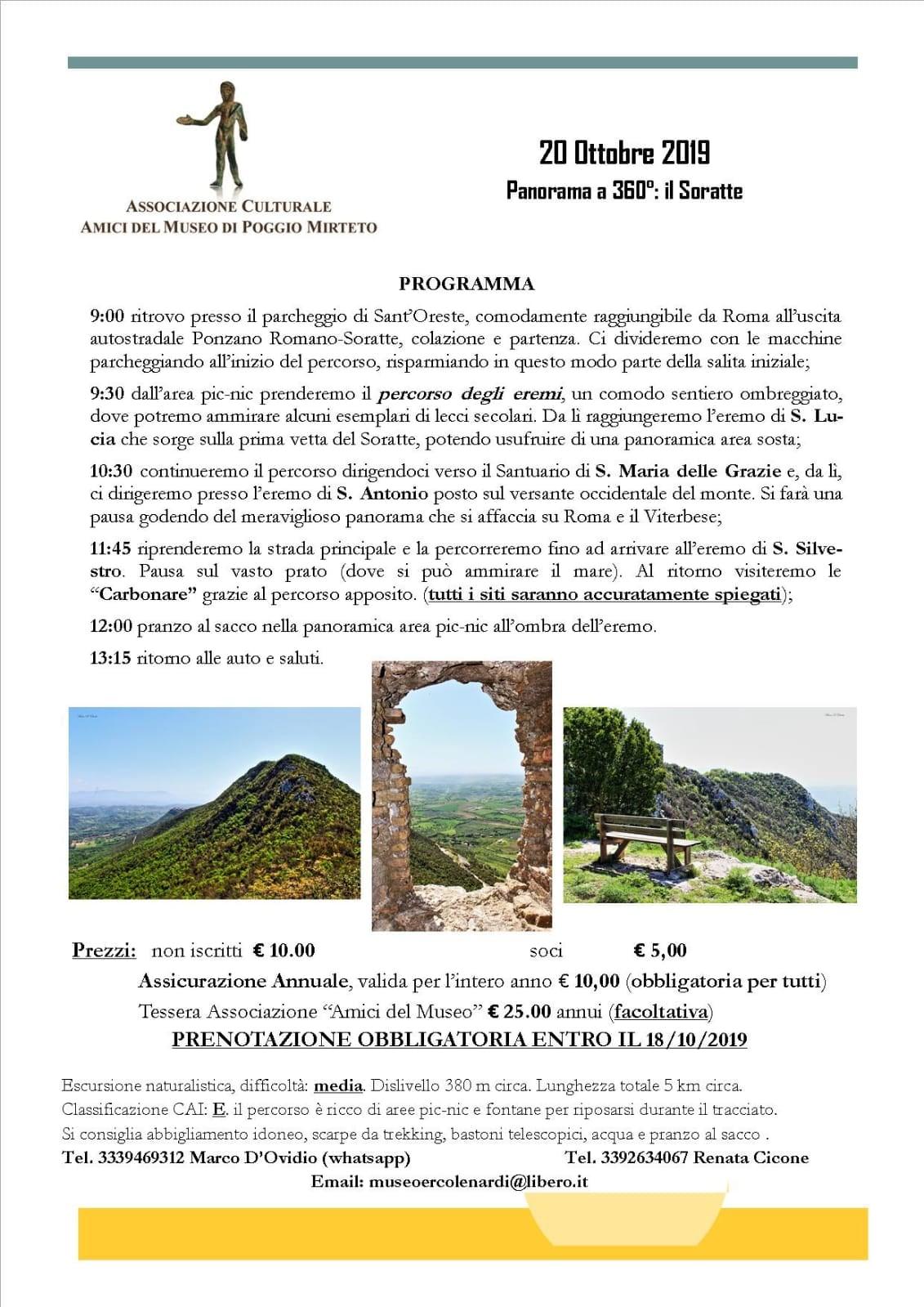 Un monte a 360°: il Soratte - eventi in sabina