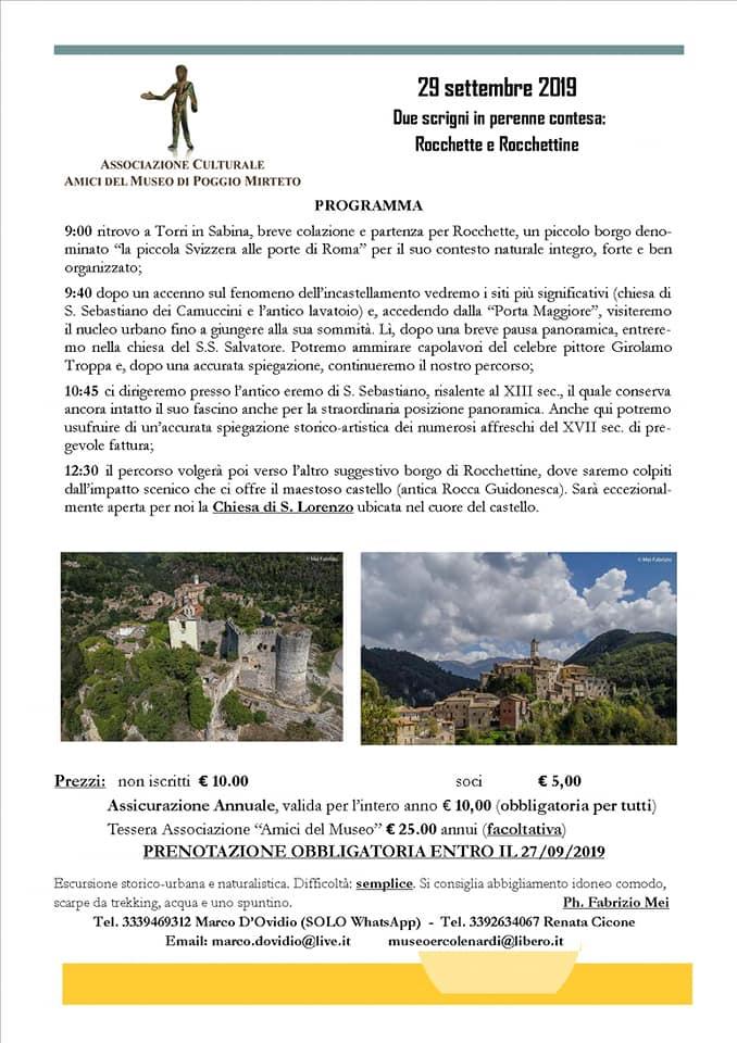 Due scrigni in perenne contesa: Rocchette e Rocchettine - eventi in sabina