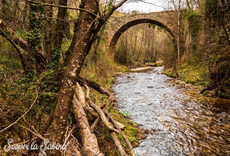 gole del farfa trekking lazio ponte romano