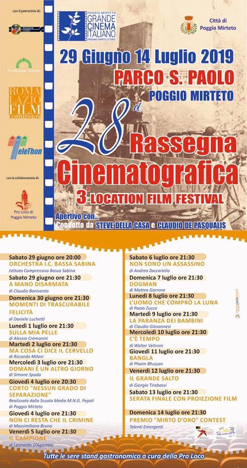 Rassegna Grande Cinema Italiano - eventi in sabina