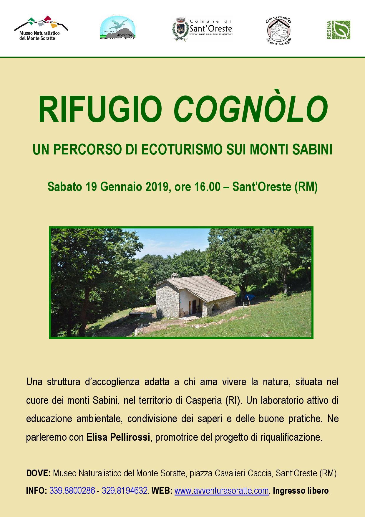 Rifugio Cognòlo: un percorso di ecoturismo sui monti sabini - eventi in sabina