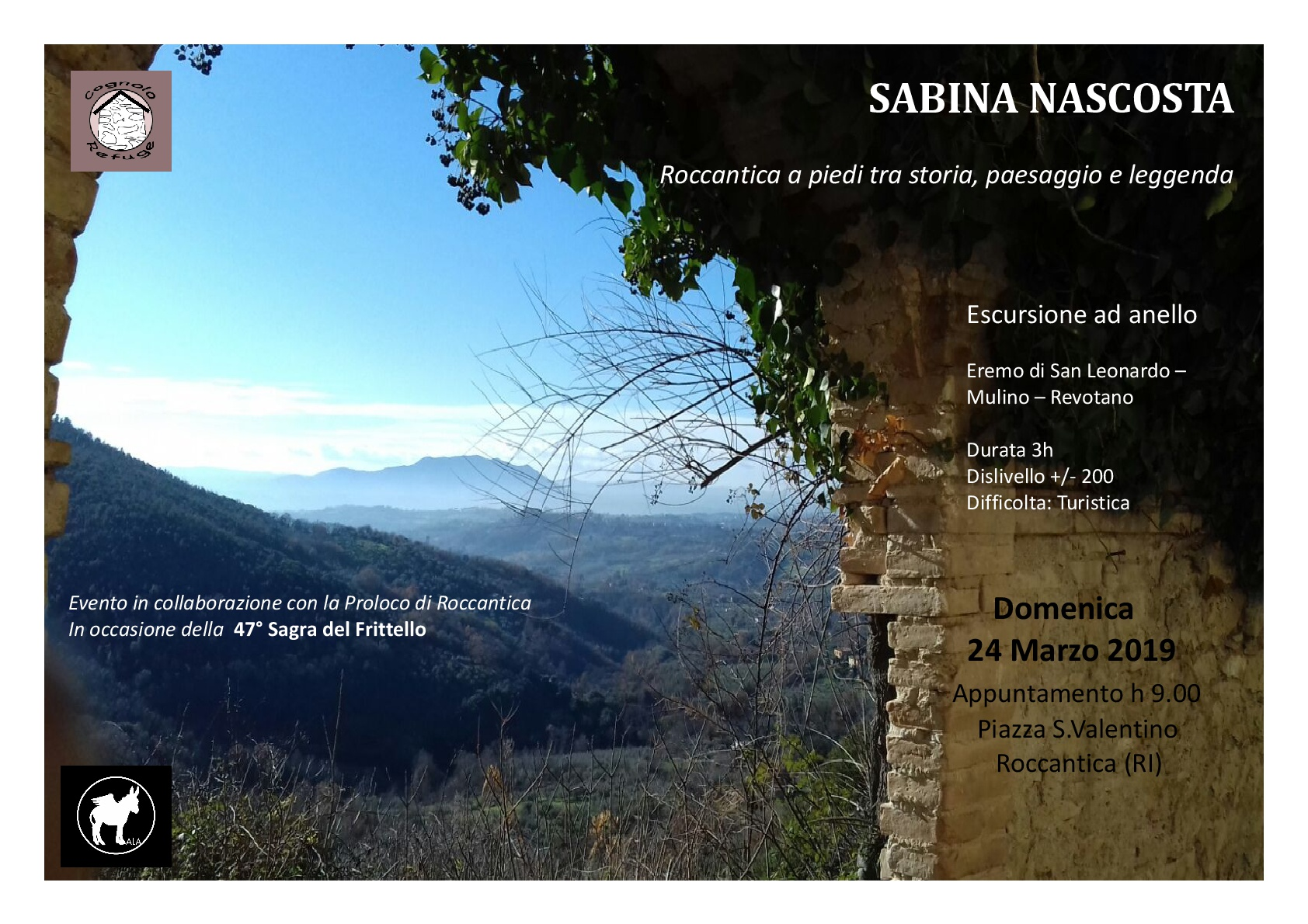 Sabina Nascosta: a piedi tra storia, paesaggio e leggenda - eventi in sabina