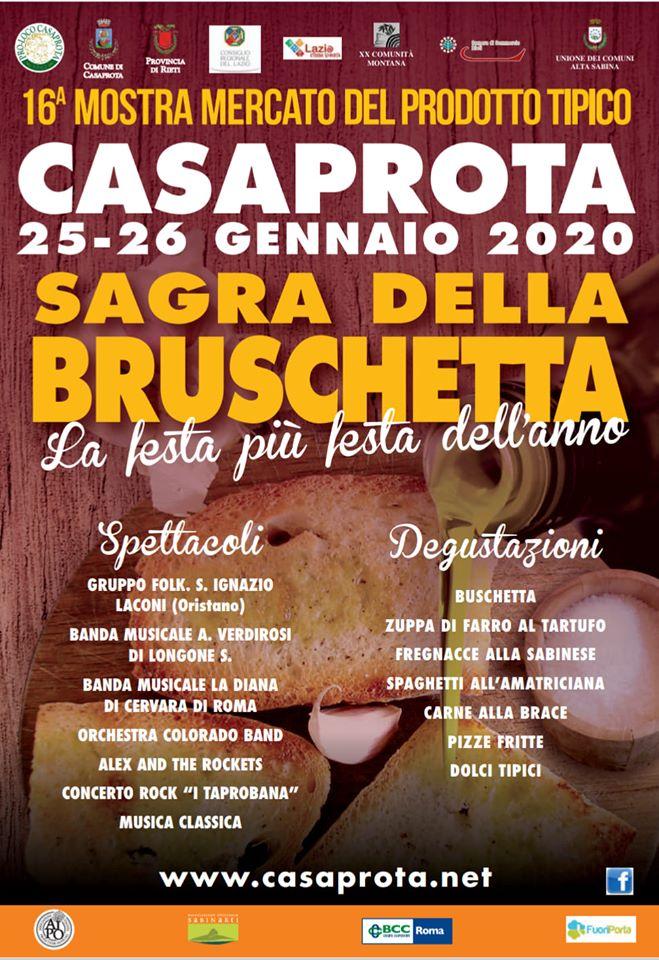 Sagra della Bruschetta a Casaprota – 58^ edizione - eventi in sabina