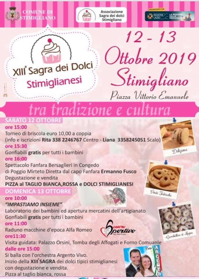 Sagra dei Dolci Stimiglianesi – 13^ edizione - eventi in sabina