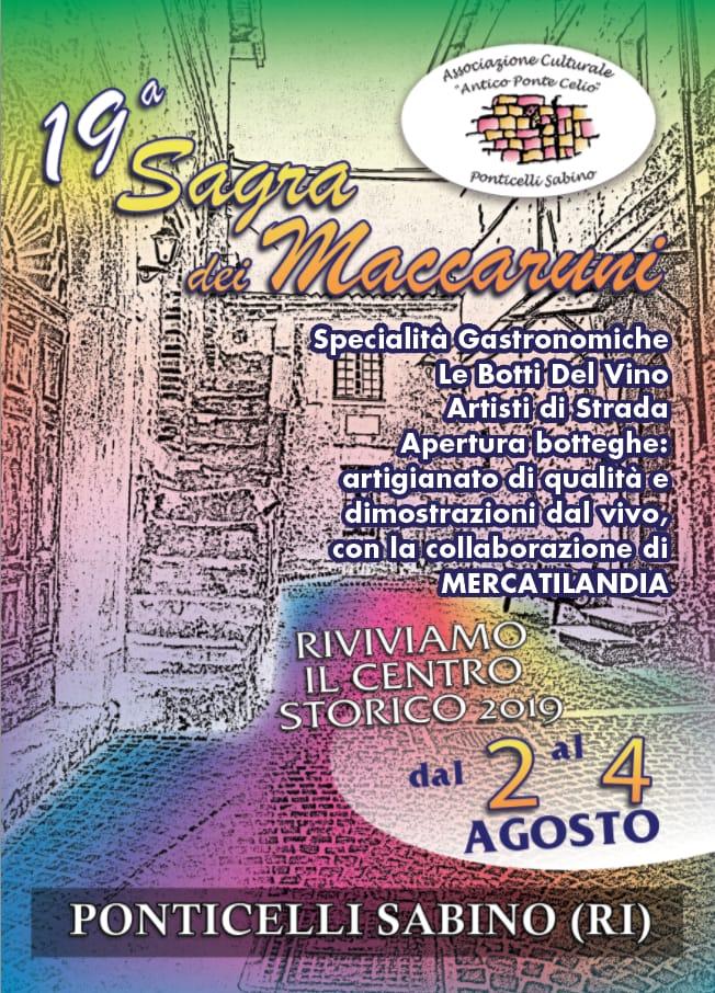 Sagra dei Maccaruni e Riviviamo il Centro Storico – 19^ edizione - eventi in sabina