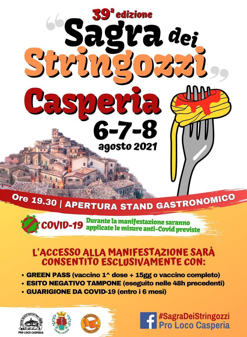 Sagra dei Stringozzi di Casperia – 39^ edizione - eventi in sabina